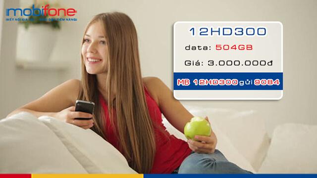 Đăng ký gói 12HD300 Mobifone