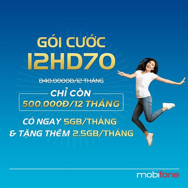 Đăng ký gói 12HD70 Mobifone
