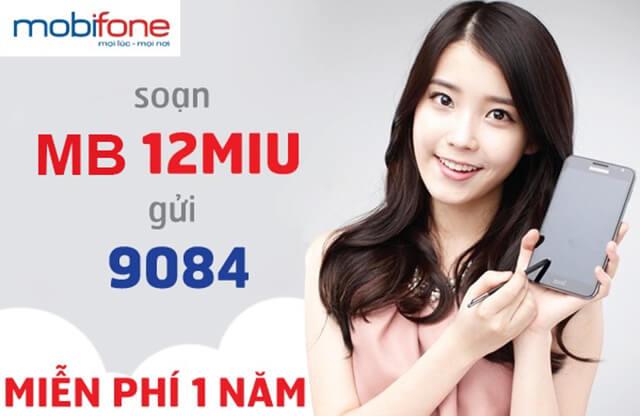 Đăng ký gói 12MIU Mobifone