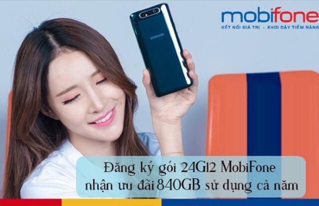 Đăng ký gói 24G12 Mobifone