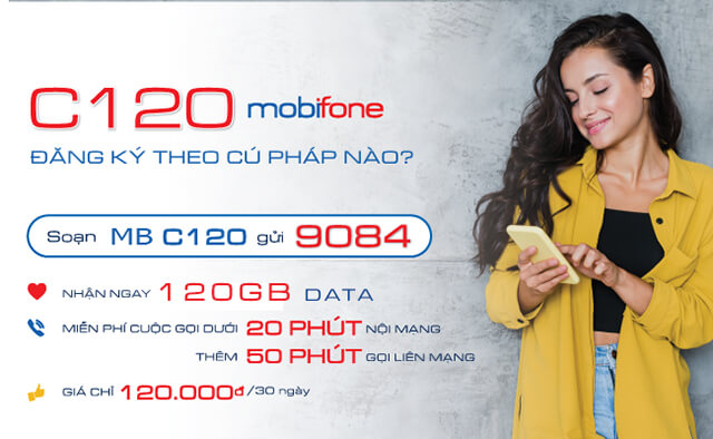 Đăng ký gói C120 Mobifone