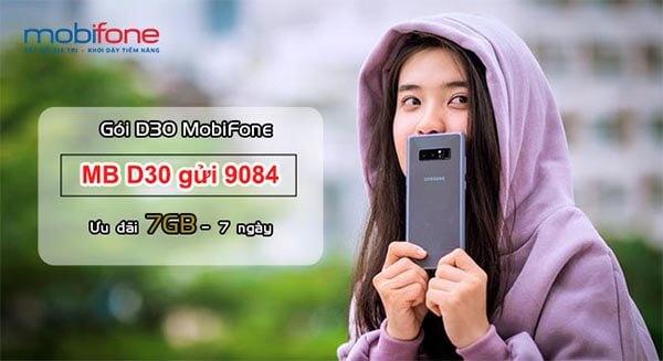 hướng dẫn đăng ký gói D30 Mobifone