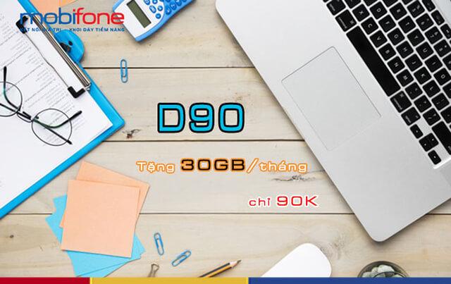 Đăng ký gói D90 Mobifone
