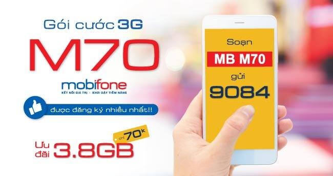 Hướng dẫn đăng ký gói M70 Mobifone