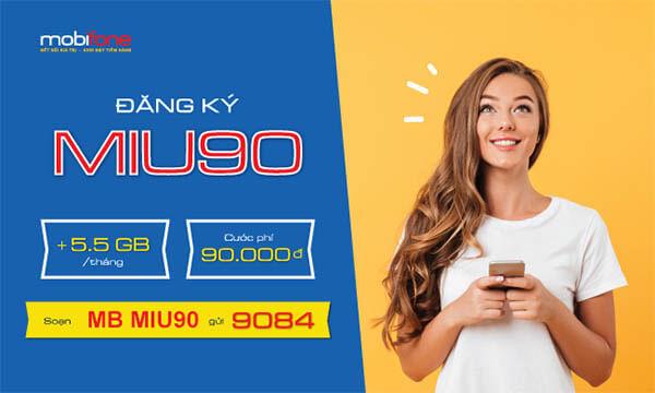 Cách đăng ký gói MIU90 Mobifone