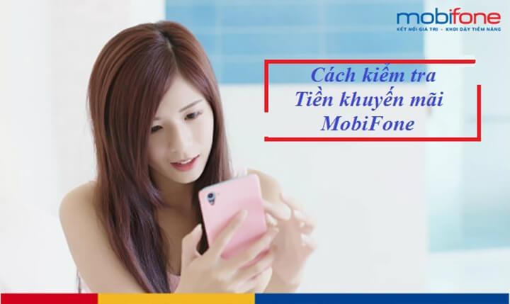 Kiểm tra tài khoản khuyến mãi Mobifone