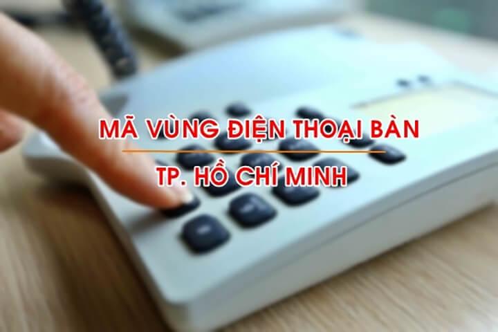 Mã vùng điện thoại Hồ Chí Mình