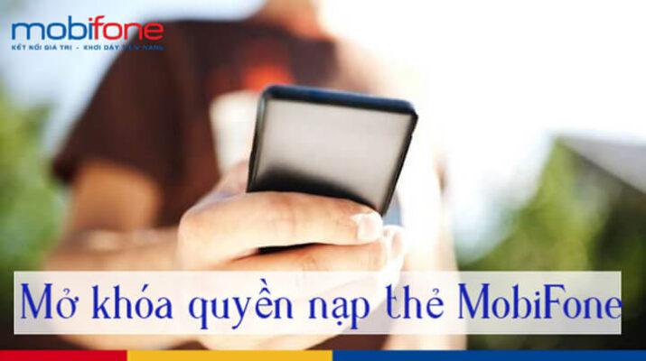 Cách mở khóa nạp tiền Mobifone